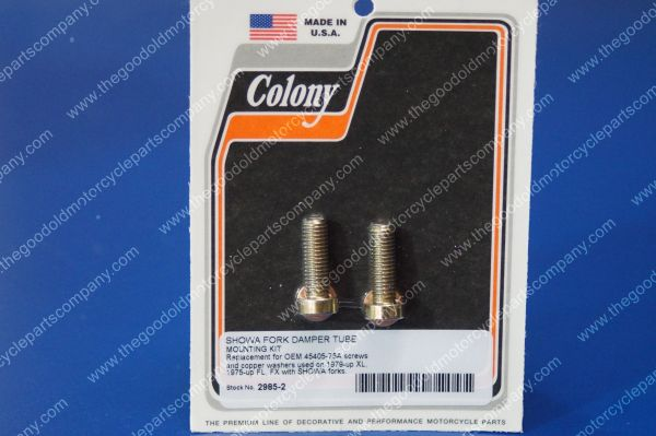 V-twin Manufacturing Fork Slider Bottom Cap Stud And Nut Chrome 8826-6